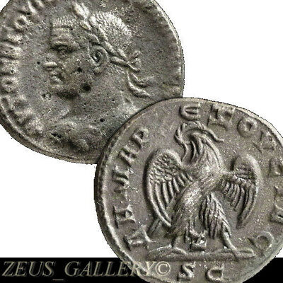 Trebonianus Gallus Tetradrachm RARE 4 in Prieur Ancient ROMAN Empire Coin