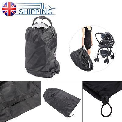 Gate Check Baby Pram Child Umbrella Buggy Pushchair Stroller Cover Travel Bag UK