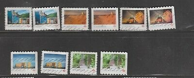 Canada 2018 Landscapes 2 Sets of 5 from Booklets & Coils (10 stamps)