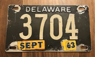 Delaware Stainless Black White Tag Riveted