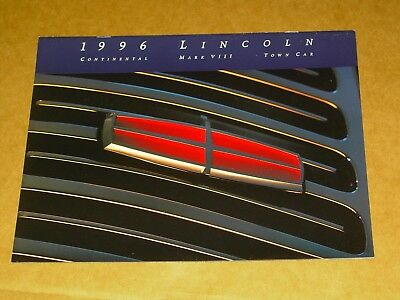 1996 Lincoln Brochure 12 Pages Nice! Mark Viii Town Car Continental