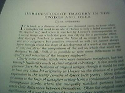 ephemera 1950 article horace horace's use of imagery in the epodes and odes andr