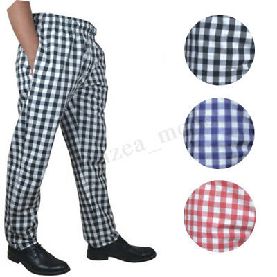 Chef Trousers Cotton Catering Pants Catering Kitchen Trousers LARGE CHECK PANTS
