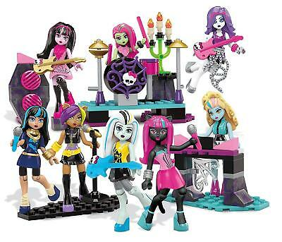 Monster High Mega Bloks Glam Ghoul Band Playset 182 Pieces TOYS DOLLS RRP £29.99