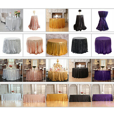 Shiny Glitter Sequins Tablecloth Cover For Banquet Wedding Party Table Decor