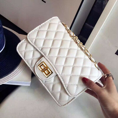 Women PU Leather Shoulder Purse Messenger Crossbody Classic Quilted Chain Bag