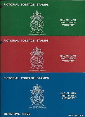 ISLE of MAN 1975 Additional Regional Definitives - 6 values - Presentation Packs