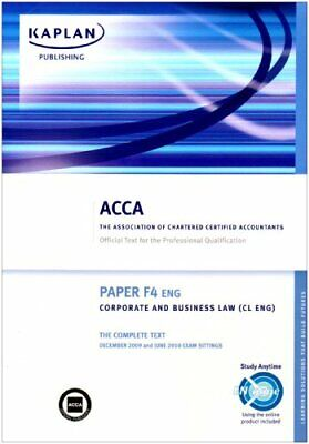F4 CORPORATE AND Business Law CL (UK): Pocket Notes (Acca Pocket