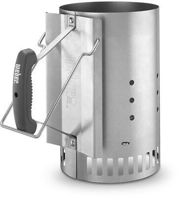 Weber Rapidfire Chimney Charcoal Starter and Lighters Grill Accessories