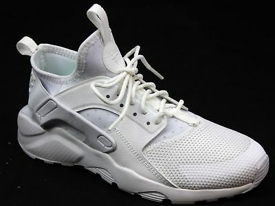 reputable site c1570 80e13 KIDS JUNIOR NIKE Huarache White Leather Look Mesh Sports Fitness Trainers  Size 4