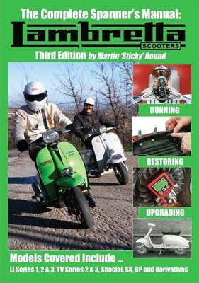NEW - The Complete Spanner's Manual Lambretta Scooters - 3rd Edition Stickys