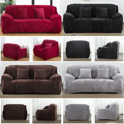 Elastic Fabric Sofa Cover Sectional/Corner Couch Covers Home Decor 1-4 Seats
