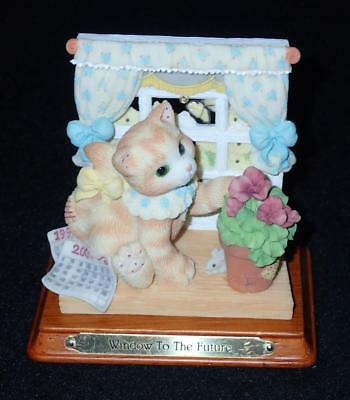 Enesco Calico Kittens 1998 Wishes Are Windows Of Hope For The Future Figurine