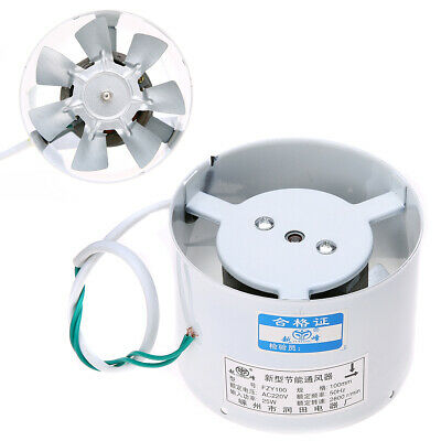 Inline Ducting Fan Booster Air Cooling Filter Vent Metal Exhaust Blower Fans