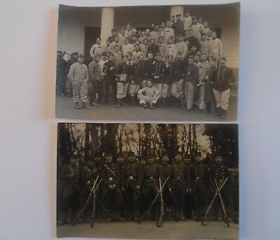 CPA PHOTO guerre de 1914 groupe de poilus soldats 1913