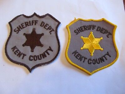 Michigan Kent Co Sheriff Patch Set Left Cheese Cloth