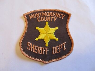 Michigan Montmorency Co Sheriff Patch Obsolete