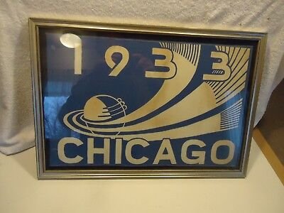 1933-34 Chicago century of progress world fair pennant / banner  cloth souvenir