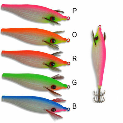 "DTD /""SOFT FULL COLOR GLAVOC/"" Silicon Squid Boat Fishing"