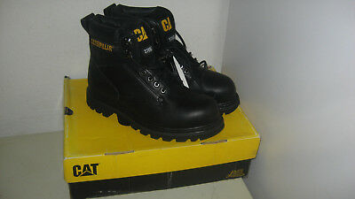20a5b62a5ab Men Caterpillar Second Shift Steel Toe Work Boot P89135 Black Original New  8.5