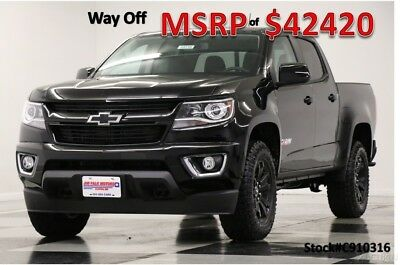 2019 Chevrolet Colorado MSRP$42420 4X4 Z71 Midnight Edition Crew 4WD New Camera Heated Black Leather Seats Bluetooth Remote Start Mylink 18 17 2018