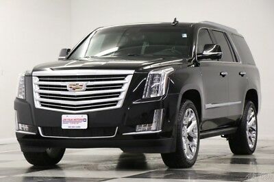 2017 Cadillac Escalade Platinum 4X4 Black Raven 6.2L V8 Escalade Loaded Used Heated Cooled Leather DVD Navigation Camera 4WD 22 In Rims 6.2L 2017
