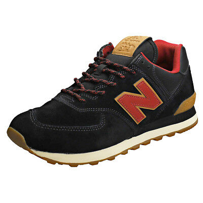 online store f247a 5214b NEW BALANCE ML574 Trail Pack Hommes Black Red Suede et Textile Baskets