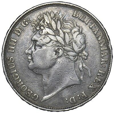 1822 Secundo Crown - George Iv British Silver Coin - Nice