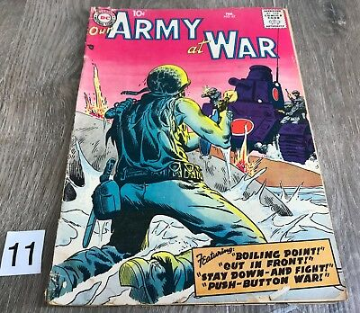 DC Comic Our Army at War FEB 67 1958 FR FR+ 1.0 Complete Silver Age War Original