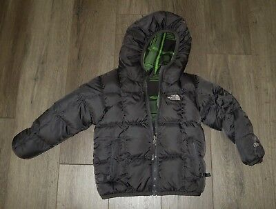 Boy's THE NORTH FACE Reversible Moondoggy 550 Down Puffer Winter Jacket Coat 4T