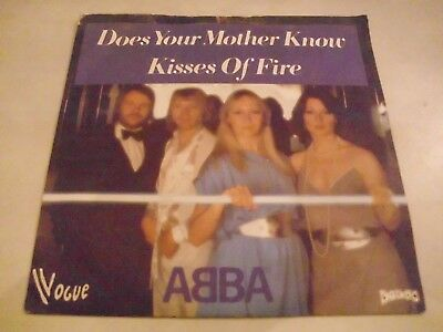 """7"""" Single, Abba, Does your mother know, französische Pressung, mit Cover"""