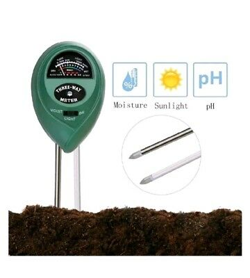 HYCKee Soil Tester Moisture Meter 3 in 1 Plant Kit With PH, Light & acidity...