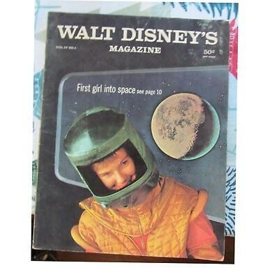 Vintage Walt Disney's Magazine First Girl into Space Oct. 1959 Vol.IV No.6
