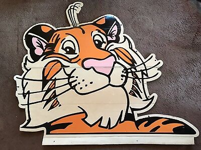 Esso tiger Sign 46x55 Very Rare, Vinyl Coated Cardboard!!