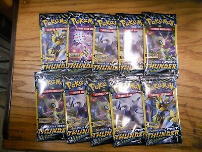 Lot of 10: Pokemon Lost Thunder Booster Pack 3 Cards