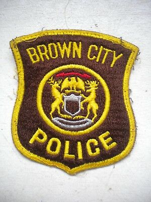 Vintage Brown City Michigan Police Patch