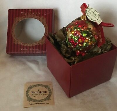 Waterford Holiday Heirlooms - Georgian Kissing Ball Christmas Ornament - Poland
