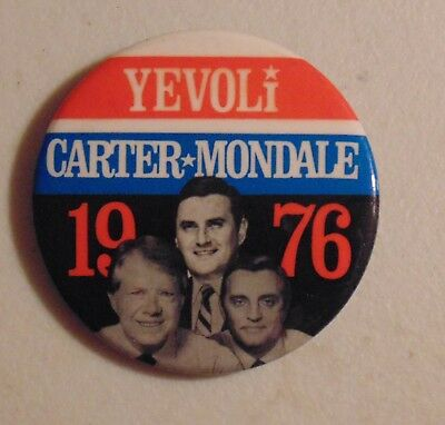 Jimmy Carter 1976 New York local campaign pin button political