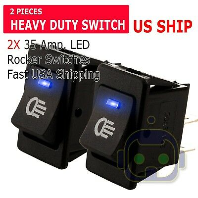 2pcs 12V 35Amp Heavy Duty Toggle Flick Switch ON/OFF Car Dash Light Metal SPST