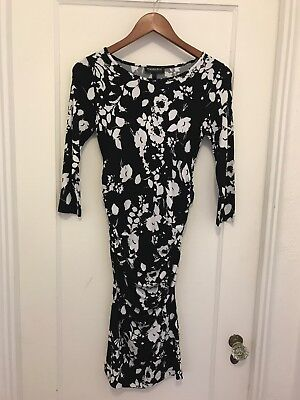 Isabella Oliver for A Pea In The Pod Patterned 3/4 Sleeve Maternity Dress Size S