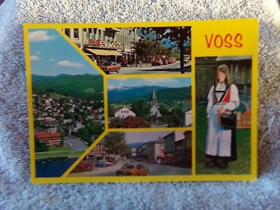 Vintage Postcard NORWAY - Town of Voss