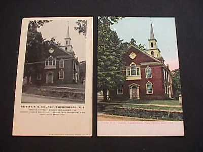 2 Trinity P.e. Church Swedesboro, New Jersey Postcards