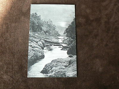 Vintage Davidson's Postcard: Evening on the Keith River, Blairgowrie, Scotland