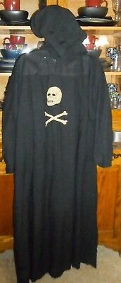 OLD RARE Odd Fellows Ceremonial Robe W Mask Skull Crossbones Masonic Freemasonry