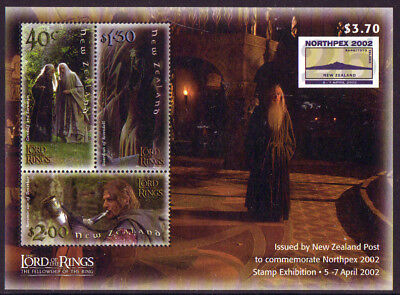 New Zealand 2002 Northpex Exhibition  Lord Of The Rings Ms Unmounted Mint, Mnh