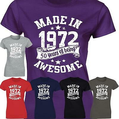 50th Birthday Made In 1969 Vintage Awesome Ladies Present Womens GIft T shirt