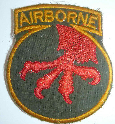 Paratrooper Patch - US ARMY - 17th AIRBORNE DIVISION - MARKET GARDEN - Green - L