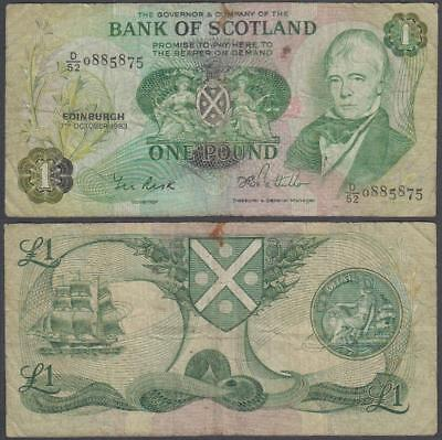 1983 Bank of Scotland 1 Pound