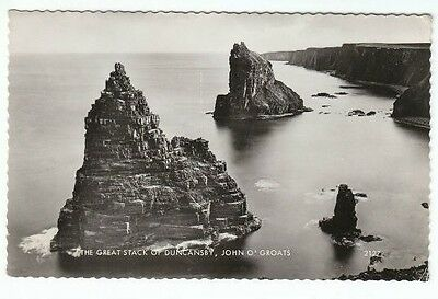 Great Stack Of Duncansby John O' Groats Caithness 15 Aug 1962 Real Photograph