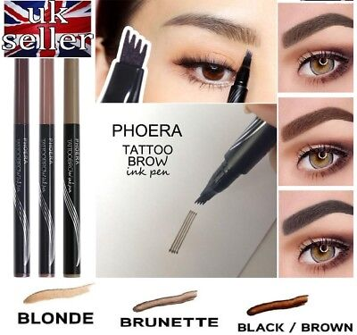 Microblading Tattoo Eyebrow liquid Ink Pen PHOERA waterproof 4 fork pencil brow
